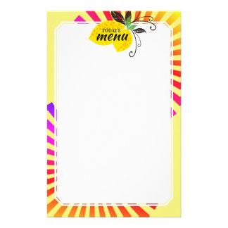 Lemon branch groovy rays menu letterhead
