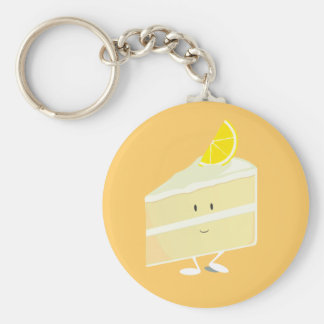 Lemon cake slice character keychain