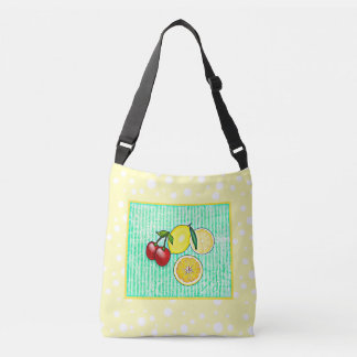 Lemon, Cherries Oranges Lime Green Yellow Tote Bag