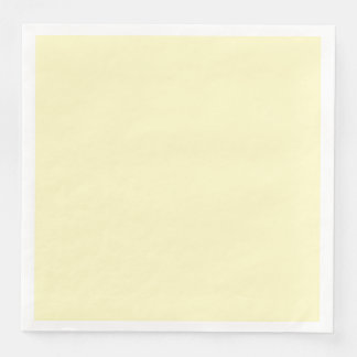 Lemon Chiffon Solid Color Customize It Disposable Napkins