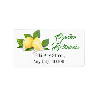 Lemon Citrus Fruit Botanical Floral Garden Label