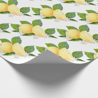 Lemon Citrus Fruit Botanical Wrapping Paper