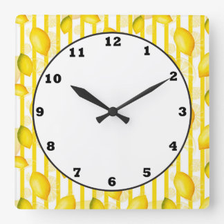 Lemon Citrus fun kitchen fruit wall clock