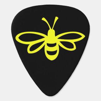Lemon Colored Bee Guitar Pick