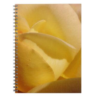 Lemon Colored Rose Note Books