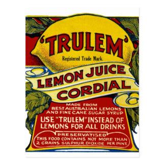 Lemon commercial postcard