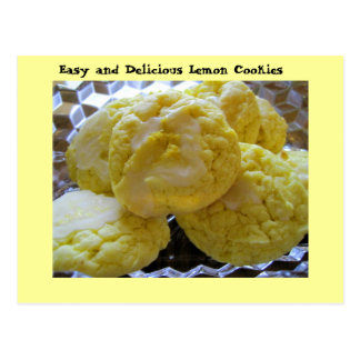 Lemon Cookie Recipe Postcard