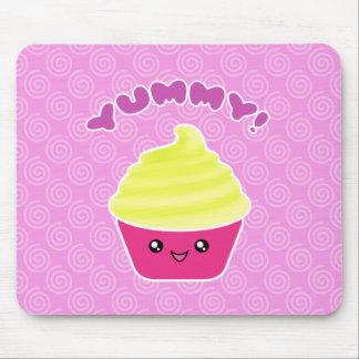 Lemon Cream Yummy Kawaii Cupcake Mousepad