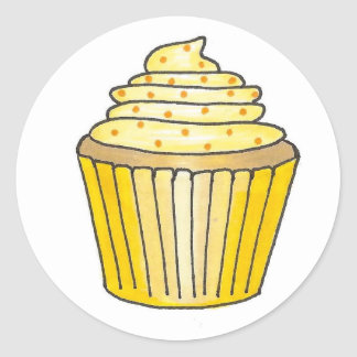 Lemon Cupcake Stickers