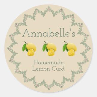 Lemon Curd Label