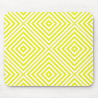 Lemon Diamond Chevron Mouse Pad