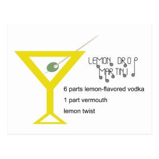 Lemon Drop Martini Postcard