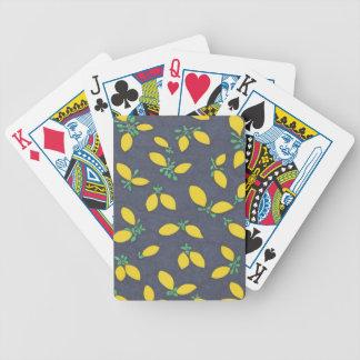 Lemon Drops Food Art Pattern Bicycle Playing Cards