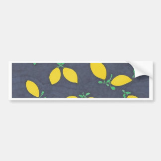 Lemon Drops Food Art Pattern Bumper Sticker