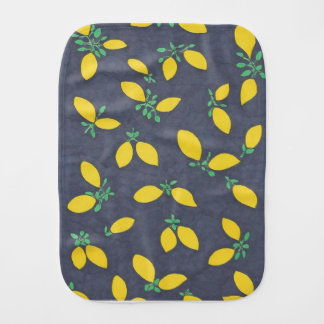 Lemon Drops Food Art Pattern Burp Cloth