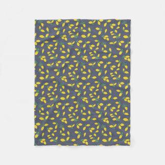 Lemon Drops Food Art Pattern Fleece Blanket