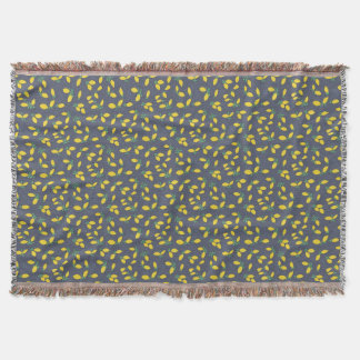 Lemon Drops Food Art Pattern Throw Blanket