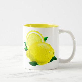 Lemon Drops Two-Tone Coffee Mug