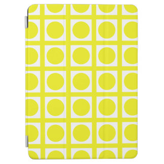 Lemon Elegant Grid Dots iPad Air Cover