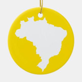 Lemon Festive Brazil at Emporio Moffa Ceramic Ornament