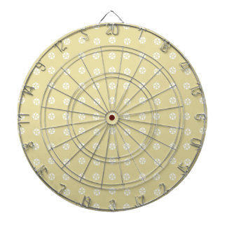 Lemon Flower Pattern Dartboard