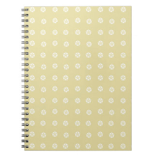 Lemon Flower Pattern Notebook