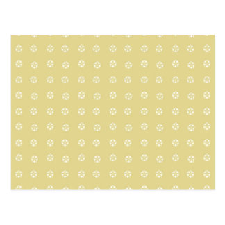 Lemon Flower Pattern Postcard