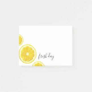 Lemon Fresh day post it notes