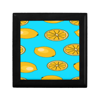 Lemon fruit pattern gift box