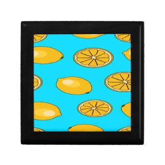 Lemon fruit pattern small square gift box