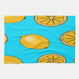 Lemon fruit pattern towels