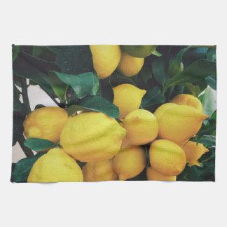 Lemon fruit tree hand towel