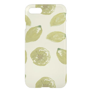 Lemon Fruits Sliced and Whole Lemons on Yellow iPhone 7 Case