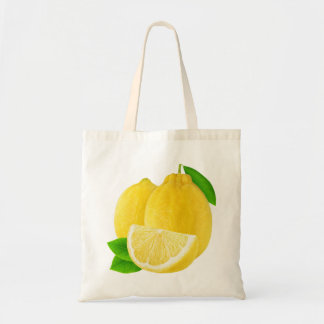 Lemon fruits tote bag