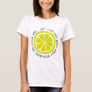 Lemon graphic message TEE