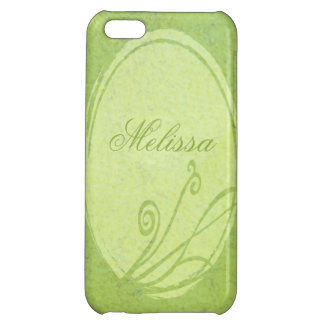 Lemon Grass Personalized Spring Green Custom Name iPhone 5C Cases