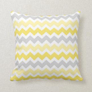Lemon Gray Chevron Decorative Pillow Cushions
