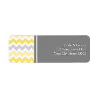 Lemon Gray Wedding Custom Return Address Labels