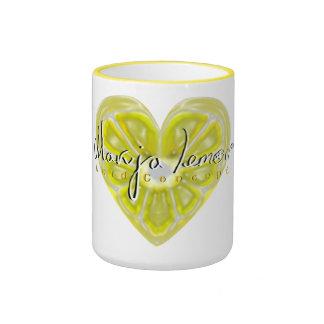 Lemon Heart Ringer Mug