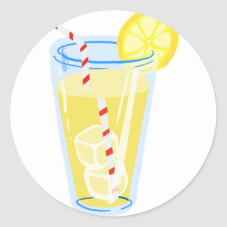 Lemon Iced Tea Round Sticker