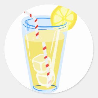 Lemon Iced Tea Round Sticker