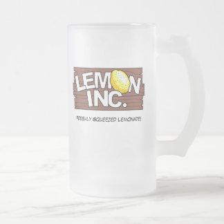 Lemon Inc. Logo Glass Mug