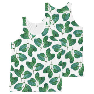 Lemon Leaf All-Over Print Singlet