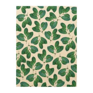 Lemon Leaf Wood Print