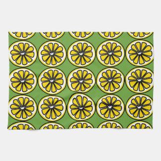 Lemon Lemons Slice Green Yellow Kitchen Dish Towel