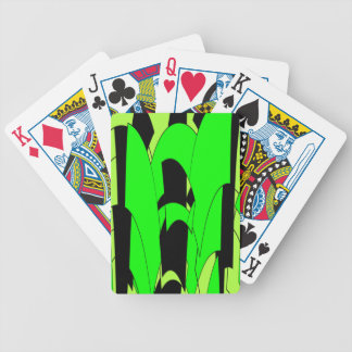 Lemon Lime Abstract Art Bicycle Playing Cards