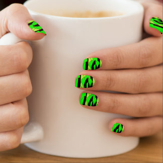 Lemon Lime Abstract Art Minx Nail Art