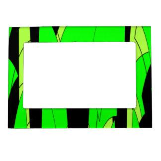 Lemon Lime Abstract Jungle Magnetic Frame