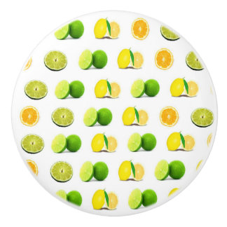 Lemon, Lime and Orange Slice Kitchen Cabinet Knob