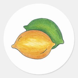 Lemon Lime Citrus Fruit Fruits Fruity Food Sticker